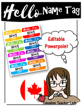 hello name tag template by canadian teacher lady tpt