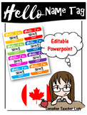 Hello Name Tag Template