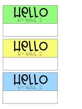 Hello Name Tags