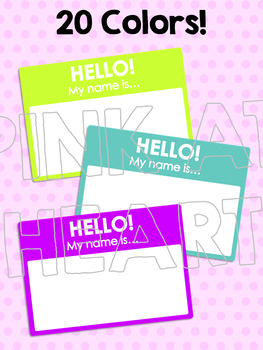 Hello Name Tags Clip Art