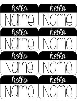 Hello Name Tags (Editable)
