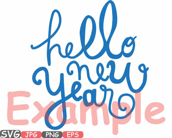 Hello New Year SVG clipart Champagne Cheers 2017 new year's eve Holiday 530s