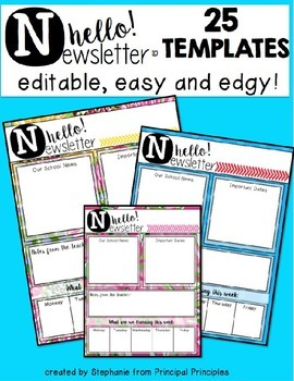 """Hello"" Newsletters-Editable"