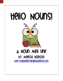 Hello Nouns! A Noun Mini Unit