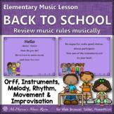 Back to School Elementary Music Lesson ~ Hello: Orff, Rhythm & Melody