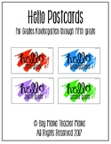 Hello Postcards for Grades K-5