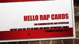 Hello Rap Cards