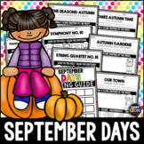 Hello, September Listening Sheets - Autumn, Copland, Beethoven,