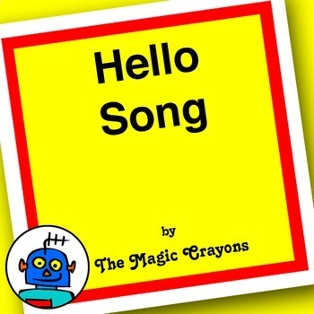 English Hello Song for ESL, EFL, Kindergarten students, Shake it, wave your arms
