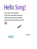 Hello Song for Structured Activities