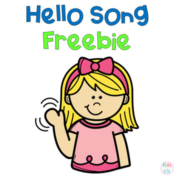 Hello Song with Pocket Chart Cards Freebie