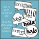 Hello Speech Bubble Signs in Different Languages