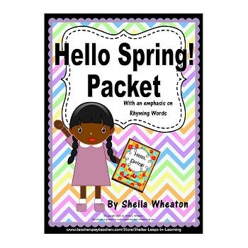 Hello, Spring Packet:  Literacy, Math, and More!