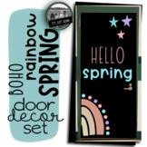 Hello Spring Door Boho Rainbow Door April Bulletin Board B