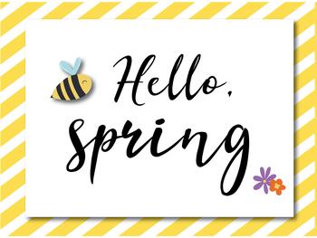 Hello, Spring! Math Centre