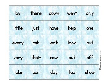 Hello Spring Sight Word Bingo - Journeys K Units 5-6