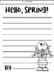 Hello, Spring! Writing Prompt & Craft | FREEBIE