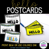 Hello Student Postcards