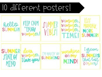Hello Summer! 10 Bright Posters With Summer Themed Quotes!