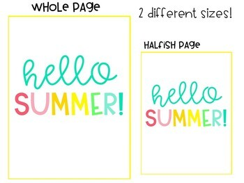 Hello Summer! 10 Bright Posters with Summer-themed Quotes!