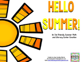 Summer BLACKLINE Math and Literacy Centers!