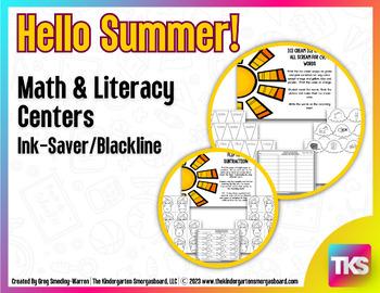 Summer! Hello Summer! A BLACKLINE Math and Literacy Creation!