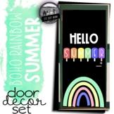 Hello Summer Boho Rainbow Door Decoration Set End of the Y