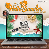 Hello Summer Digital Escape Room - End of Year Breakout Escape