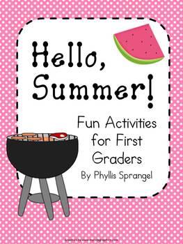 Hello Summer!  Fun Activities for First Grade