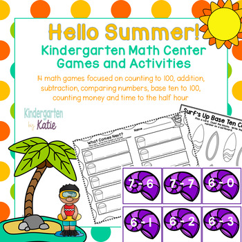 Hello Summer!  Math Tub Games and Activities