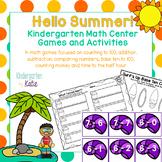 Hello Summer!  Kindergarten Math Center Games and Activities