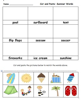 Summer Season: First or Second Grade