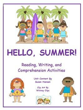 Summer Season: First or Second Grade Hello Summer