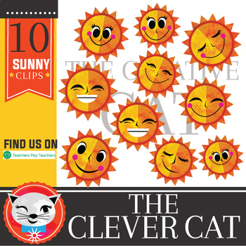 Hello Sunshine! 20 Piece Clip Set (by The Clever Cat)