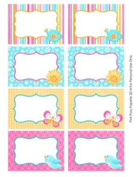 Hello Sunshine Classroom Decor Bin Tag Labels