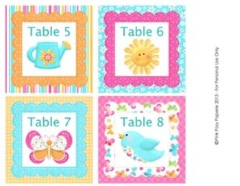 Hello Sunshine Classroom Decor Table Numbers