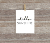 Hello Sunshine Printable // Classroom Decor