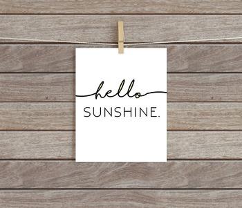 Hello Sunshine Printable // Classroom Decor