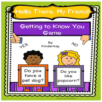 Hello There My Friends! A Getting to Know you Game for Little Kids
