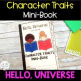 INTERACTIVE MINI-BOOK - Character Traits Analysis -Hello, Universe - Novel Study