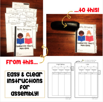 Hello, Universe Character Traits Graphic Organizers