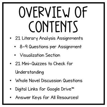 Hello Universe: Novel Study, Literary Analysis Questions