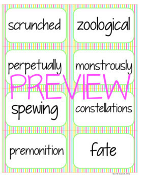 Student Vocabulary Book, Quiz, & Word Wall Cards - Hello, Universe - Novel Study