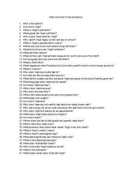 Hello, Universe Trivia Questions