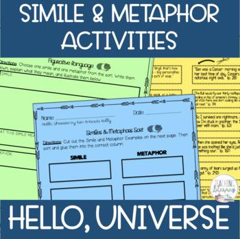 Hello, Universe Figurative Language Activities