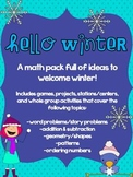 Hello Winter: Math Mega Pack (Addition/Subtraction, Geometry, Patterns)