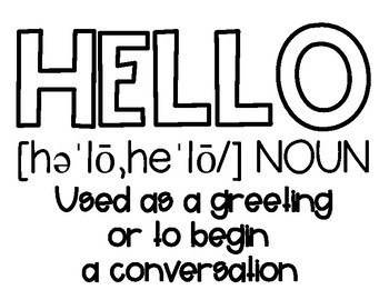 Hello in Many Languages Bulletin Board or Door Decor