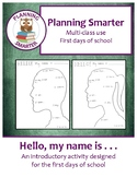 Hello, my name is: An introductory activity designed for t