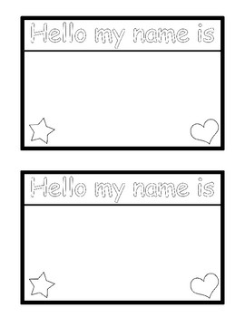 Hello my name is... Name badge printable, 2 per page