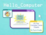 Hello_Computer-Free Computer Theme Cliparts